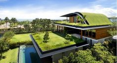 Green Roof look elegant and are good for the environment! #GreenRoof