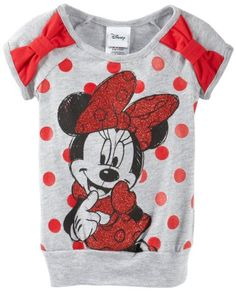 Disney Little Girls' Minnie Bow Top, Gray, 4 Disney Clothes, Disney Outfits, Outfits For Teens, Baby Boy Fashion, Kids Fashion, Amazon Clothes, Toddler Leggings, Minnie Bow, Bow Tops