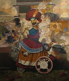 Fish Trip Oil on Canvas 120x114cm