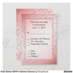 Pink Glitter RSVP w