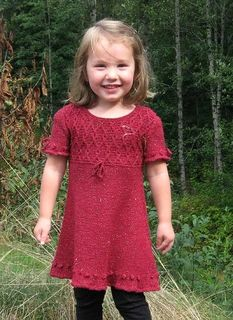 Ravelry: Sparkles and Bobbles pattern by Rene Dickey Knitting For Kids, Baby Knitting, Louisa Harding, Circular Pattern, Stockinette, Holiday Dresses, Knitwear, To My Daughter, Short Sleeve Dresses