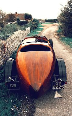 Wooden cars... got to love the craftmanship and sheer beauty - 1932 Talbot Boat Tail Tourer