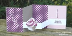 Pop up Z fold card, Cupcake für dich, Geburtstag, Birthday, Stampin`Up!