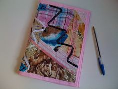 """Pink Horse Crazy Journal Cover by StarBoundWestern on Etsy,   fits 6""""x9"""" coil notebook, Bible or favorite book.  $25.00 Journal Covers, Notebook, Bible, Horses, Quilts, Unique Jewelry, Handmade Gifts, Pink, Etsy"""