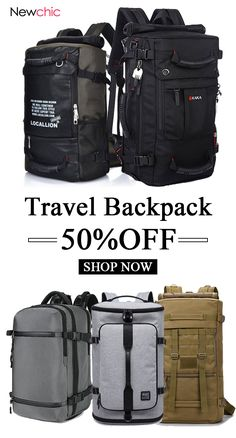 7f7c5724f2 Shop Newchic.com to see the most trendy multi-functional large size travel  backpacks now.  travel  bags  sacks