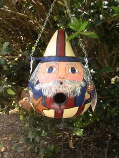 Patriotic Uncle Sam Birdhouse Gourd by inmypaintedgarden on Etsy, $26.95