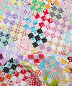 Nine Patch Checkerboard Quilt & Tutorial   Red Pepper Quilts