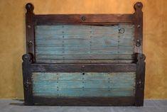 rustic headboard, Old Door Hacienda Bed - Demejico
