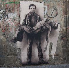 Street art Pasolini a Napoli