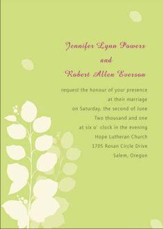 yellow vintage wedding invitations