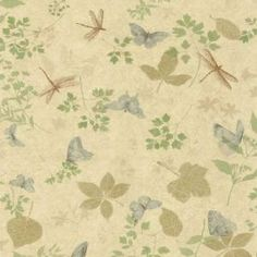 The Wallpaper Company 56 sq.ft. Green Bugs and Leaf Wallpaper-WC1280552 at The Home Depot - LOVE THIS ONE