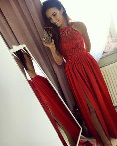 1f02661f05 Czerwona długa sukienka na wesele  Maxi red dress