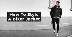 Biker jacket is the coolest piece of clothing on men but it is important to make sure you style it correctly. 18 Best Ways To Style Biker Jackets. Biker Jacket Outfit, Black Biker Jacket, Leather Jacket, Suit Fashion, Mens Fashion, Cool Boots, Piece Of Clothing, Suits You, Style Guides