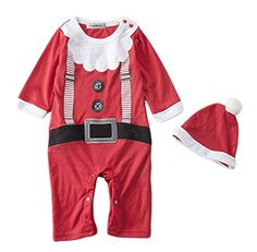 86fba03b3334 StylesILove Infant Toddler Young Kids Christmas Baby Boy Holiday Santa  Costume Romper - Months -- Be sure to check out this helpful article.