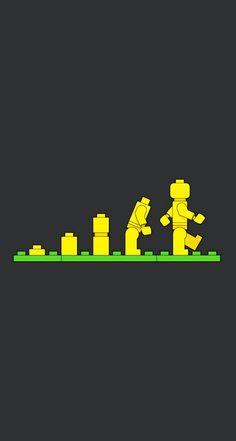 Evolution of Lego Minifigure #LOL iPhone wallpaper - @mobile9