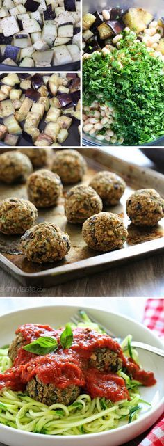 Vegan Eggplant Meatballs- made with chick peas instead of white beans and my husband loved them