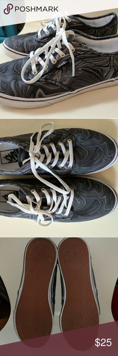 854ce1a8b0352b Super cute vans Classic vans style shoes with grey hue swirl print. Only  worn a coupe times.