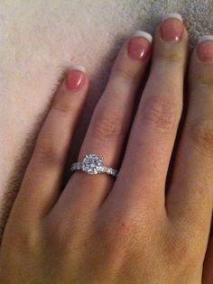 My beautiful engagement ring!  Platinum Martin Flyer