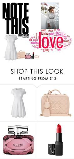 """""""Show The Love,  In  Works & Deeds"""" by twinsawyer ❤ liked on Polyvore featuring Chanel, Gucci and NARS Cosmetics"""
