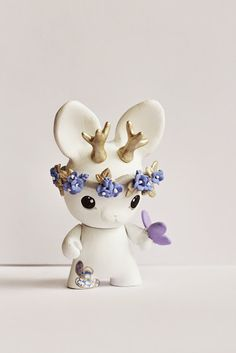 Mijbil Creatures | Munny Jackalope Art Toy (white) | Online Store Powered by Storenvy