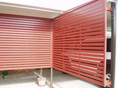 Sliding Screens Of Slats Ideal For Northern Side Of