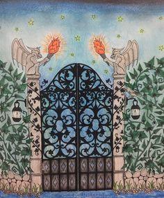 Desenhos para colorir Floresta Encantada - o portão