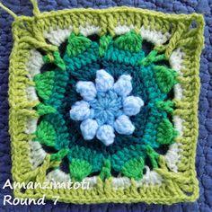 Zooty Owl's Crafty Blog: Seaside Winter Blanket: Amanzimtoti Bonus Square 1
