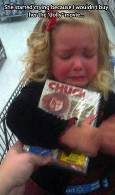 """She's crying because she can't get a """"dolly"""" movie"""
