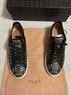 1ddcdc43cc156 NIB Authentic ALAÏA ALAIA Laser-Cut Black Leather Mens EU-43 #fashion  #clothing #shoes #accessories #mensshoes #sandals (ebay link)