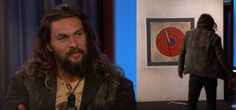 Jason Mamoa talks Aquaman and new show Frontier while throwing axes   Jason Mamoa has a new show coming to Neflix calledFrontierand stopped byJimmy KimmelLive to talk about it.  He discussed the plot of the show:  Declan Hart he is a half Irish half Native. He was raised by the man who ran HBC. He murdered my whole family and kids and so I made this company called Black Wolf company with Scottish Irish French against the English  basically me wrapped in fur killing a bunch of English people…