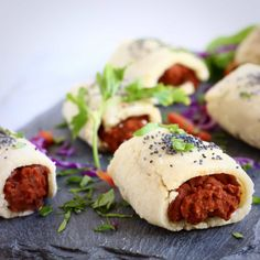 TheseGluten-Free Vegan Sausage Rolls are crispy and flaky, full of flavour and seriously moreish! They make a great appetiser.
