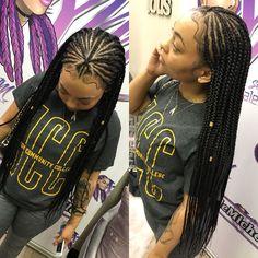 Fulani braids small feedin braids smallboxbraids goddessbraids small braids extensions small braids extensions triangle center parts box braids wig for black women cornrows wig cornrow wigs knotless braids faux Small Box Braids, Short Box Braids, Blonde Box Braids, Black Girl Braids, Braids For Black Hair, Box Braids Hairstyles, My Hairstyle, Protective Hairstyles, Child Hairstyles