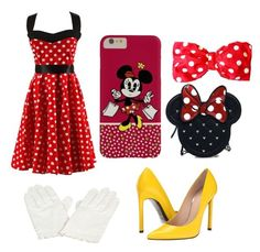 """""""Minnie Mouse"""" by pricejulia ❤ liked on Polyvore"""