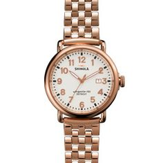THE RUNWELL 41mm White Watch with Date