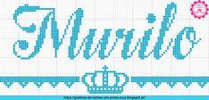 Gráficos de Nomes em Ponto Cruz: Nome Murilo em Ponto Cruz