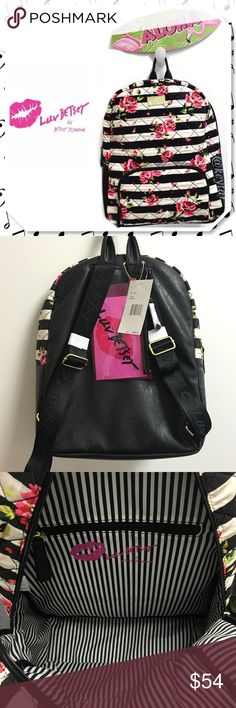 "Betsey Johnson Grand Floral Quilted Backpack Betsey Johnson Luv Betsey Floral quilted backpack. Front outside zip, two inside media slip pockets and inside back wall zipper pocket. Gold tones LUV BETSEY hardware, detachable pink cosmetic/pencil case, and adjustable black shoulder straps with the LUV BETSEY logo in black. Fully lined with striped logo lining.   ⚡️15"" H  x 12""W  x 6""D  ❌ trades ❌ lowballs 👍offer button  🌟Bundle 2 or more items and save 10%🌟 Betsey Johnson Bags Backpacks"