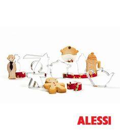 Bakvormpjes Priogiotti van Alessi zijn gemaakt van rvs en de vormen zijn gebaseerd op de meest bekende ontwerpen van Alessi. Leuk kerstcadeau!