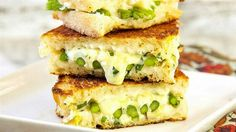 Roasted asparagus and grilled cheese sandwiches.  apronstringsblog.com