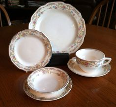"Rare Antique Mount Clemens ""Mildred"" China; USA China Pottery, 1930's assorted pieces"