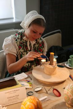 The apparatus used for the encaustic (wax embossing) technique is showed here. ukrainian easter egg make woman pysanka Polish Easter, Embossing Techniques, Egg Dye, Ukrainian Easter Eggs, Peter The Great, Easter Egg Crafts, Egg Designs, Faberge Eggs, Easter Colors