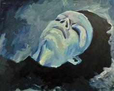 OPHELIA, art made by Polish visual artist Jacek Sikora, Oil on canvas.