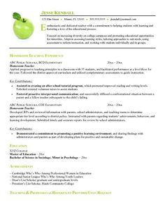 example of resume format for teacher free homeroom teacher resume example - Teacher Resumes Templates Free