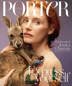 Jessica Chastain for Porter Magazine Summer 2016 by Ryan McGinley - Gucci