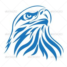 Eagle Head — Vector EPS #animal #blue • Available here → https://graphicriver.net/item/eagle-head/62092?ref=pxcr