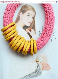 Chunky statement necklace/rope necklace/collar necklace/ by IKKX