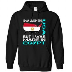 I May Live in The USA But I Was Made in Egypt (Blue) - #gift basket #novio gift. THE BEST => https://www.sunfrog.com/States/I-May-Live-in-The-USA-But-I-Was-Made-in-Egypt-Blue-aukcyndnrl-Black-Hoodie.html?68278