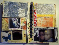 Juliana Coles Book-121605c by Traci Bunkers, via Flickr Art Journal Prompts, Art Journals, Awesome Art, Cool Art, 2016 Diary, Gcse 2017, Exquisite Corpse, Gcse Art, Book Projects