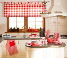 Firanki do kuchni w stylu angielskim.