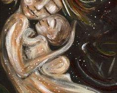madre e bambino stampa tempo In firmato 12x12 di kmberggren