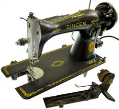 1941 Vintage Singer Electric Sewing Machine With Lift Spring Untested #Singer